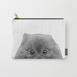 pomeranian b&w Carry-All Pouch