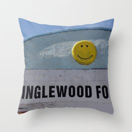 Inglewood Food Mart Calgary Throw Pillow