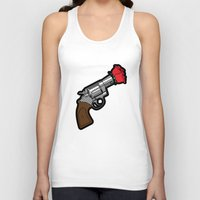 banksy Tank Tops featuring Pop Icon - Banksy by Greg-guillemin
