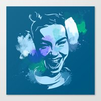 bjork Canvas Prints featuring Bjork by BIG Colours