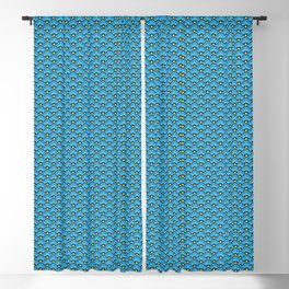 Deco Chinese Scallops, Turquoise and Aqua Blackout Curtain