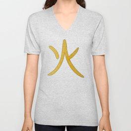Japanese Word for Fire Kanji Art Symbol Gift Unisex V-Neck