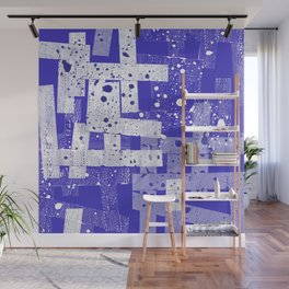 Abstract in blue Wall Mural