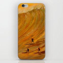Golden Light of Waimea Surfers iPhone Skin