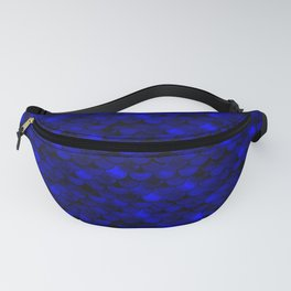Dark Blue Scales Fanny Pack