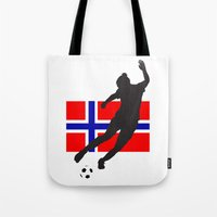 norway Tote Bags featuring Norway - WWC by Alrkeaton