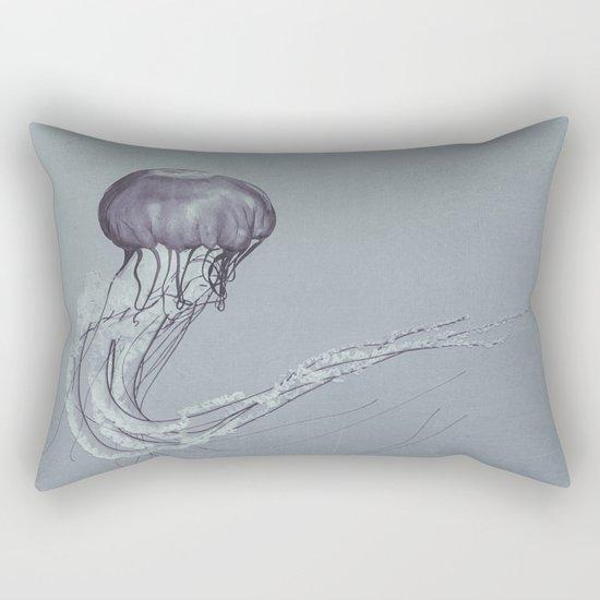 Black and White Jellyfish II Rectangular Pillow