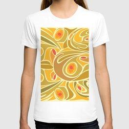 Rooster pattern in Yellow Goldenrod T-shirt