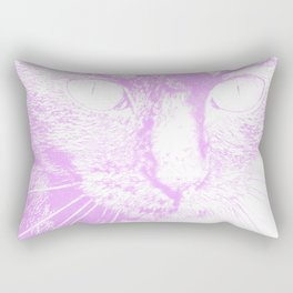 Fluffy's eyes drawing, pale violet Rectangular Pillow