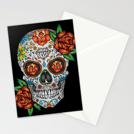 Sugar Skull, Day Of The Dead Stationery Cards