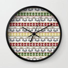 Deer Christmas pattern Wall Clock