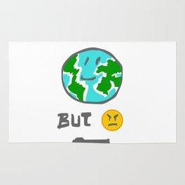 MEME I love all the world but I hate violence Rug