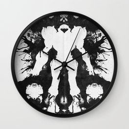 Samus Aran Metroid Geek Psychological Diagnosis Ink Blot  Wall Clock