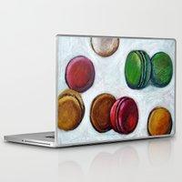 macarons Laptop & iPad Skins featuring Macarons by Nath Chipilova