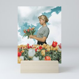Stop and smell the Tulips Mini Art Print