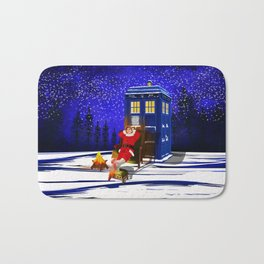 10th Doctor Relax before Christmas Bath Mat