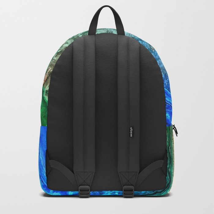 Turquoise Green Agate Mineral Gemstone Backpack