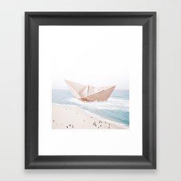 Let's sail away Framed Art Print