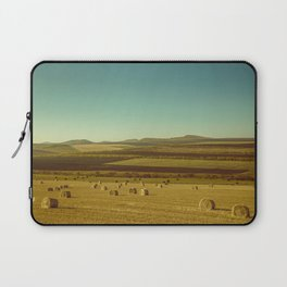 Farm field with hay bales Laptop Sleeve