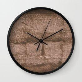 Mud abstract watercolor Wall Clock