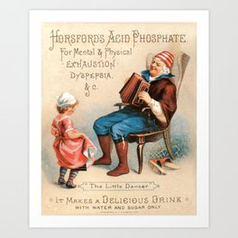 Vintage Advertising The Little Dancer Acid Phosphate Ad Art Print