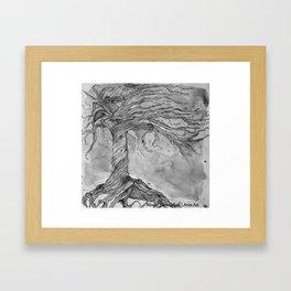Tree of Life (Grey Scale) Framed Art Print