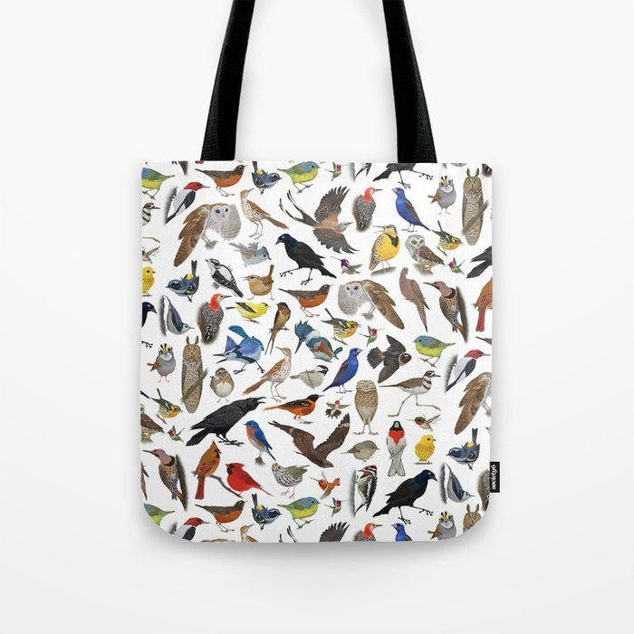 Bird Pattern Tote Bag