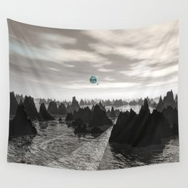 Mysterious Blue Orbs Wall Tapestry