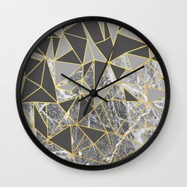 Ab Marb Grey Returned Wall Clock