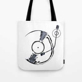 Record Deck Background Tote Bag