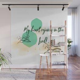 Samuel 2:1 Rejoice Bible verse scripture abstract art Wall Mural