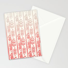 Indonesian batik coral Stationery Cards