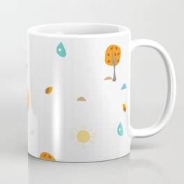 Scattered Trees. Tree landscape seamless background Coffee Mug