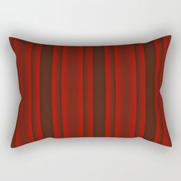 Red and Black Stripes Rectangular Pillow