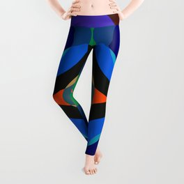 Blosomah - Colorful Abstract Art Leggings