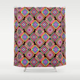 Neon Hookah Shower Curtain