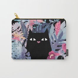 Popoki (Pastel Black Velvet) Carry-All Pouch