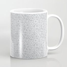 Gray and White Geometric Triangle Pattern Coffee Mug