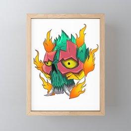 Head Skull Framed Mini Art Print