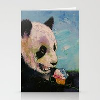 ice cream Stationery Cards featuring Ice Cream by Michael Creese
