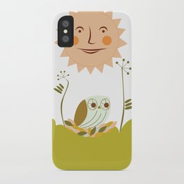 Owl sun iPhone Case