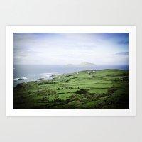 Seaside Village - Ireland Art Print