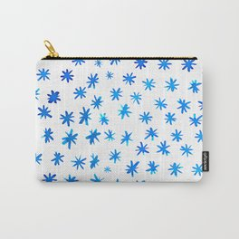 Watercolor snowflakes - blue Carry-All Pouch