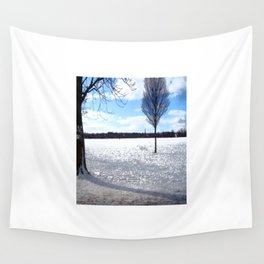 Snow on the Stray Harrogate  Wall Tapestry
