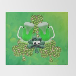 St. Patricks Day Green Beer Throw Blanket