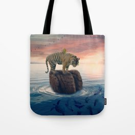Tiger Drifting by GEN Z Tote Bag