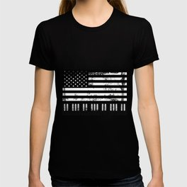 Usa American Flag Piano Keyboard Keys T-shirt