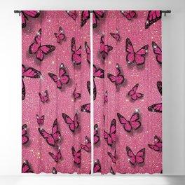 Sparkle Butterflies Blackout Curtain