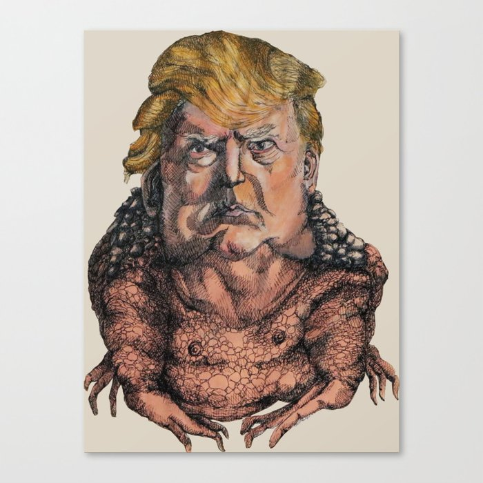 The Trump Toad Canvas Print by odes_sa | Society6