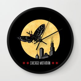 Chicago Mothman Wall Clock